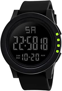 Becoler Reloj digital LED reloj de cuarzo de moda militar