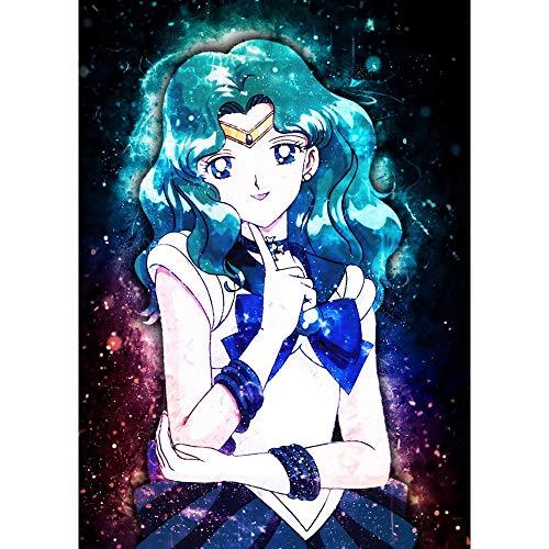 Puzzle 1000 piezas Pintura Sailor Moon Decoración Patrón de imagen de dibujos animados japoneses puzzle 1000 piezas animales Rompecabezas de juguete de descompresión intelectu50x75cm(20x30inch)