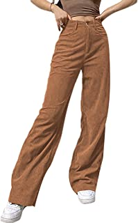 Corduroy Pants for Women High Waist Straight Leg Baggy Trousers Y2k Fashion Loose Patchwork Vintage CasualStreetwear Pants