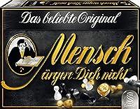 Schmidt Spiele 49290 Mensch ärgere Dich Nicht, Edition Schwarz, Familienspiel, bunt