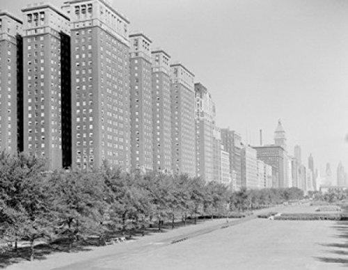 USA Illinois Chicago Conrad Hilton Hotel on Michigan Boulevard Poster Drucken (45,72 x 60,96 cm)