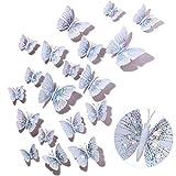 48 Stücke Glitzer 3D Schmetterling Wandaufkleber Abnehmbar