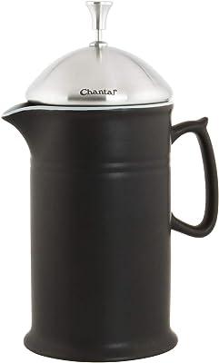 Chantal 92-FP28 KM - Prensa de cerámica con tapa de acero inoxidable, color negro mate