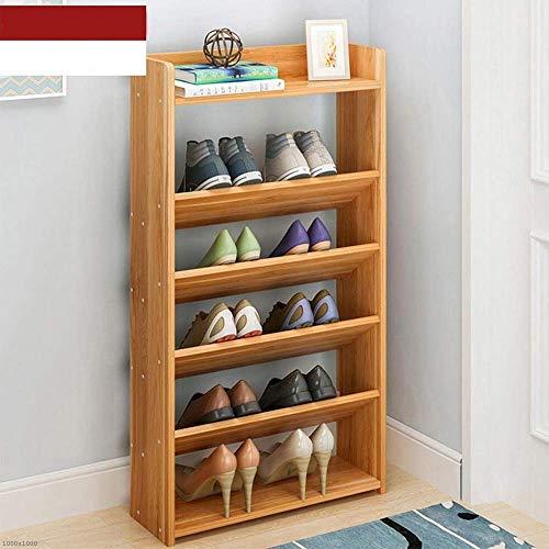 ZAIHW Zapatero Material del Panel Múltiples Capas Hogar económico Cuarto de Almacenamiento de Polvo Gabinete de Zapatos ensamblado (Color: 01, Tamaño: 60 * 17 * 96 cm)