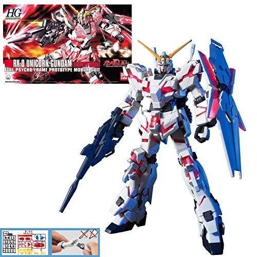 Bandai Hobby 5057399 Rx-0 Unicorn Gundam (Destroy Mode) Hguc 1/144 Model Kit