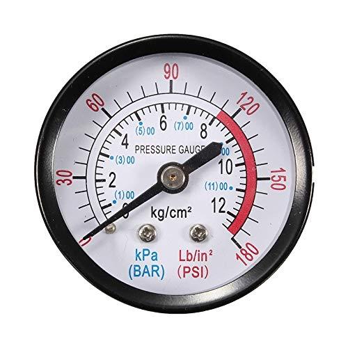 Zhouzl Hogar & Jardín Medidor de presión de Aceite hidráulico neumático del compresor de Aire axial Y40 Hogar & Jardín