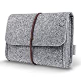 Inateck Felt Storage Pouch Bag Case for Accessory (Mouse,