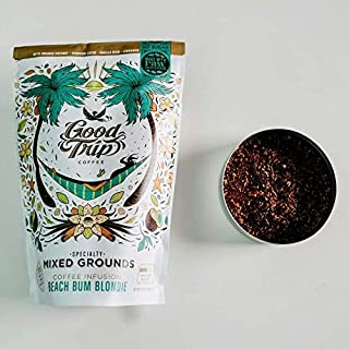Good Trip: Beach Bum Blondie Organic Coffee Blend ~ As Seen in Anthropologie | Infused w/ Coconut, Cacao, Cinnamon & Vanilla. | Vegan, GF, Keto. (Mixed Grounds for Cold Brew or French Press), 10 oz