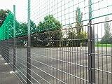 Sport-Thieme Ballfangnetz-Anlage mit Doppelstabmatte, 40 m, 40x4 m, Verzinkt