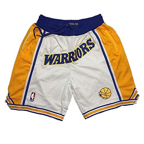 Hombres Basketball Shorts NBA Miami Heat Retro Swingman Shorts Deportivos Mesh Respirable