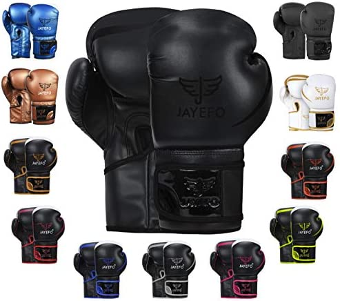 JAYEFO Glorious Boxing Gloves Black 12 OZ product image