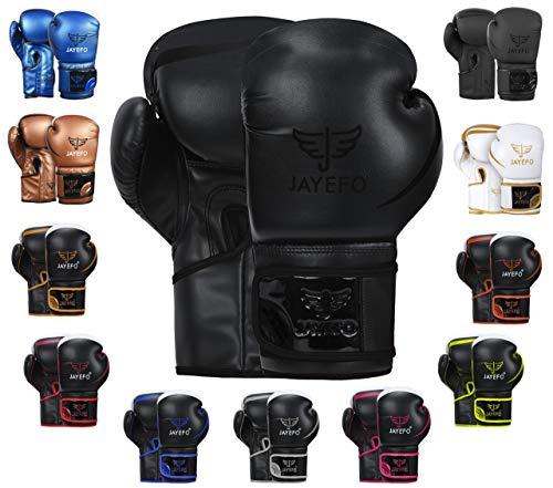 JAYEFO Glorious Boxing Gloves (Black, 14 OZ)