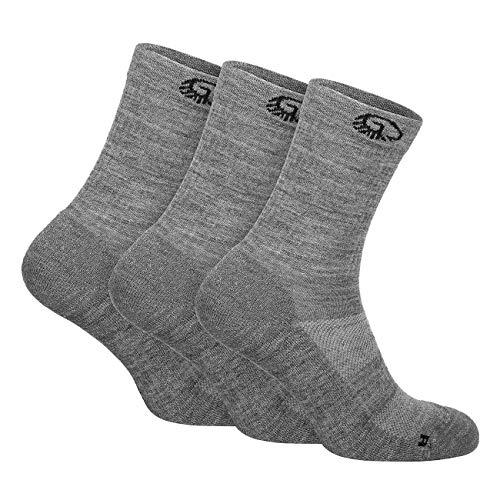 GIESSWEIN Merino Trekkingsocken - 3er Pack gepolsterte Wander-Socken für Damen & Herren, Outdoor Funktionssocken aus Merinowolle, Anti-Blasen-Polsterung