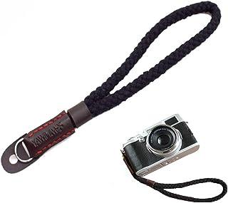 Camera Hand Wrist Strap - Cotton Adjustable Bracelet Rope for Round Hole Interface Cameras Black