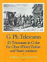 TELEMANN - Trio Sonata en Sol Mayor (TWV:42/g 8) para Violin, Oboe y BC (Partitura/Partes)