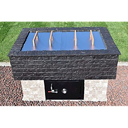 BrickWood Box Meat Smoker Package for The Outdoor Offset Wood BBQ Smoker Combo (Grill and Smoker). Commercial-Grade Stainless Steel Components. Comes with Free Detailed Homemade/DIY Smoker Plans.