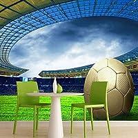Clhhsy カスタム3Dサッカー写真の壁紙スポーツサッカーをテーマにしたスタジアム壁画の壁紙リビングルームバー寝室の壁-450X300Cm