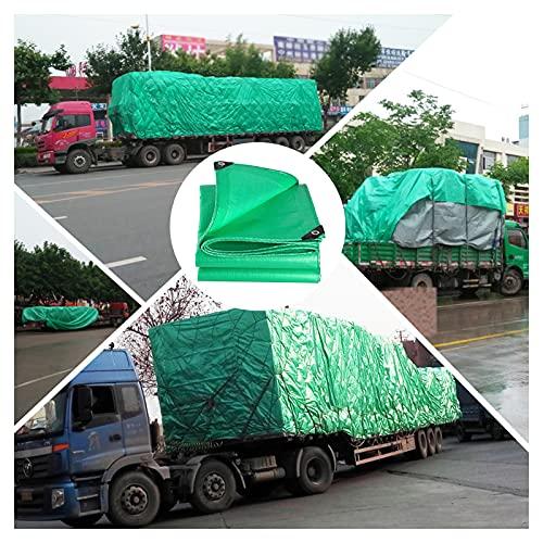 GZHENH Lona Impermeable Resistente Hoja De Lona Sombrilla Y Aislamiento Térmico. Lona De Cubierta De Primera Calidad para Acampar Al Aire Libre (Color : Green, Size : 3mx3m)
