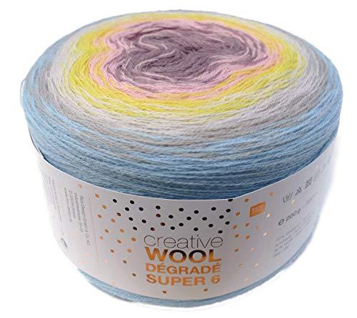 Rico creative Wool Dégradé Super 6 Fb. 01 Bobbel Farbverlaufswolle zum Häkeln u. Stricken