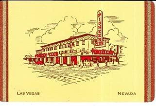 A Single Vintage Swap Playing Card PIONEER CLUB LAS VEGAS NEVADA