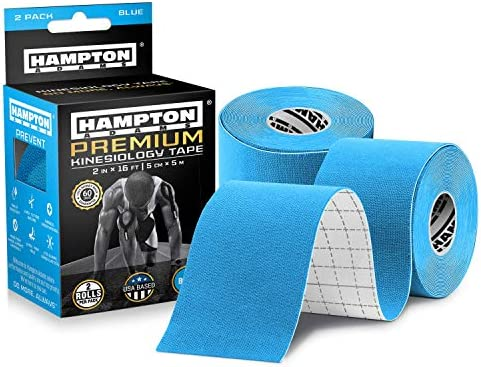 2 Pack Kinesiology Tape for Physical Therapy Sports Athletes Latex Free Elastic 16ft Water Resistant product image