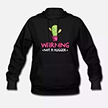 Cadine Mens Womens TShirt XS - 5XL Hoodie Long Sleeve Available warning not a hugger prickly cac