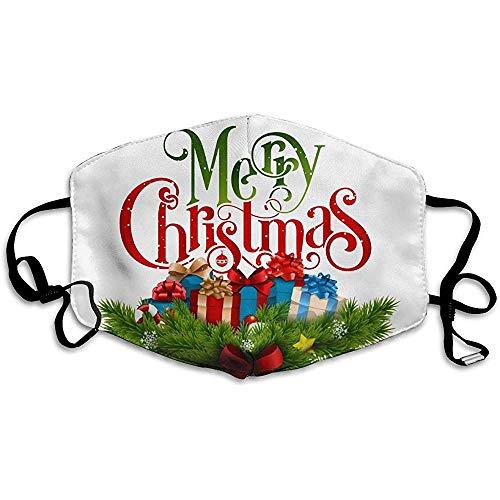 Waschbare Mundmasken Anti-Staub Unisex Frohe Weihnachten Warme Gesichtsmaske Trendy Cover Filter Allergene