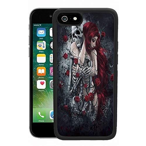 xtlxr - Carcasa para iPhone 6, iPhone 6S, diseño de patrón de pesadilla antes de Navidad, ultrafino a prueba de golpes, marco negro de goma para teléfono