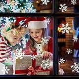 Fensteraufkleber Schneeflocke Weiß,Weihnachten Selbstklebend Fensterdeko,Schaufenster Deko Weihnachten,Schaufenster Deko Weihnachten,Christmas Decorations Window,Weihnachtsdeko Weiß(135pcs) - 3