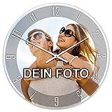 PhotoFancy - Uhr mit Foto Bedrucken - Fotouhr aus Acrylglas - Wanduhr mit eigenem...