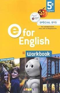 Anglais 5e Cycle 4 A2 E for English : Workbook