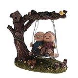 Homyl Süße älteres Paar Figuren Tischdeko, Geschenkidee für Opa/Oma, Weihnachtengeschenk, Vintage Stil - Swing