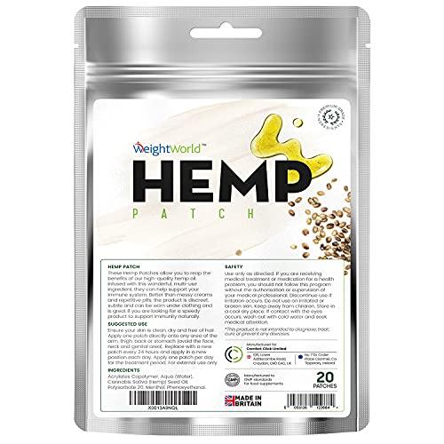 Pflanzen Extrakt Pflaster - Pflaster mit Hanföl aus Samen für das Wohlbefinden - Einfache Alternative zu Cremes oder Tabletten - Vegan & Geprüfte Inhaltsstoffe - 20 Pflaster - Von WeightWorld