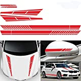 vitihipsy 6 adesivi per auto, strisce laterali, in vinile, per auto, per decorazione auto
