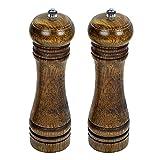 vzer natur Holz Küche Manuelle Pfeffermühle Salzmühle Set von 2 20 cm