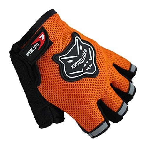 Culater Los guantes del dedo de la bici de verano La mitad de ciclo corto (naranja, tamaño libre)