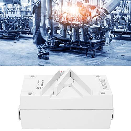 Interruptor de aislamiento a prueba de agua, interruptor a prueba de agua al aire libre a prueba de rayos UV para uso profesional para uso general para componentes electrónicos para fábrica(CF-4P20A)