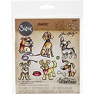 Sizzix Doodlebug SIZ661593 THoltz Framelits Die Crazy Dogs