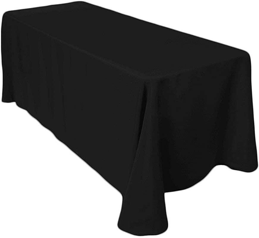 Craft And Party 90 X 132 Rectangular Polyester Table Cloth Black