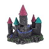 Balacoo Decoración de Acuario de Castillo Pecera Realista Refugio de Peces de Castillo Cueva Accesorios de Ornamentos de Acuario para Peces Camarones