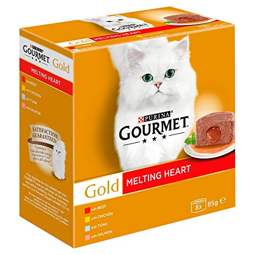 Gourmet Gold Cat Food Melting Heart, Meat and Fish, 8 x 85g