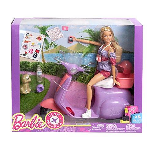 Barbie FNY34 mit Scooter Pink Passport
