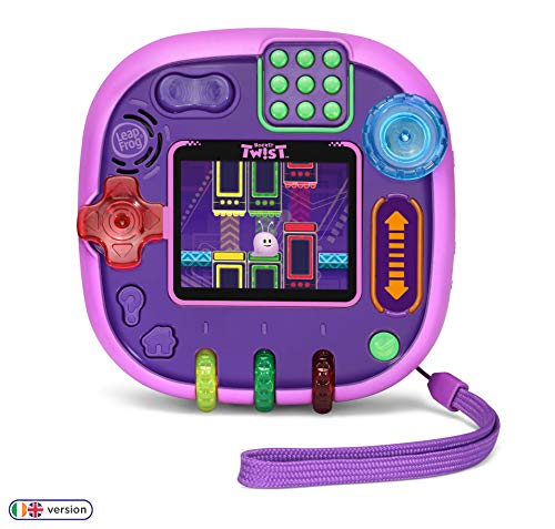 Leapfrog 606063 Rockit Twist Kids Educational Toy/Travel Children Handheld Console with Games, Purple