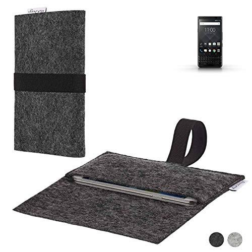 flat.design Handy Hülle Aveiro kompatibel mit BlackBerry KEYone Black Edition passexakte Filz Tasche Hülle Sleeve Made in Germany