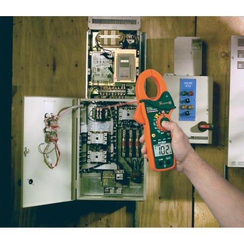 Extech EX830 Stromzange, Hand-Multimeter digital IR-Thermometer CAT III 600 V Anzeige (Counts): 4000