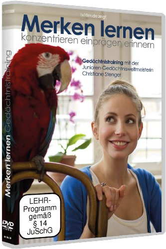 Gedächtnistraining mit Christiane Stenger - Merken Lernen (DVD) besser konzentrieren, einprägen erinnern