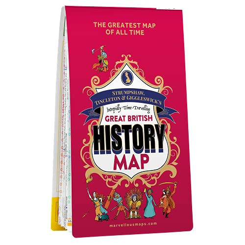 Great British History Map   ST&G   Gift Ideas   Historical map   Adventure   Trivia   (Marvellous Maps)