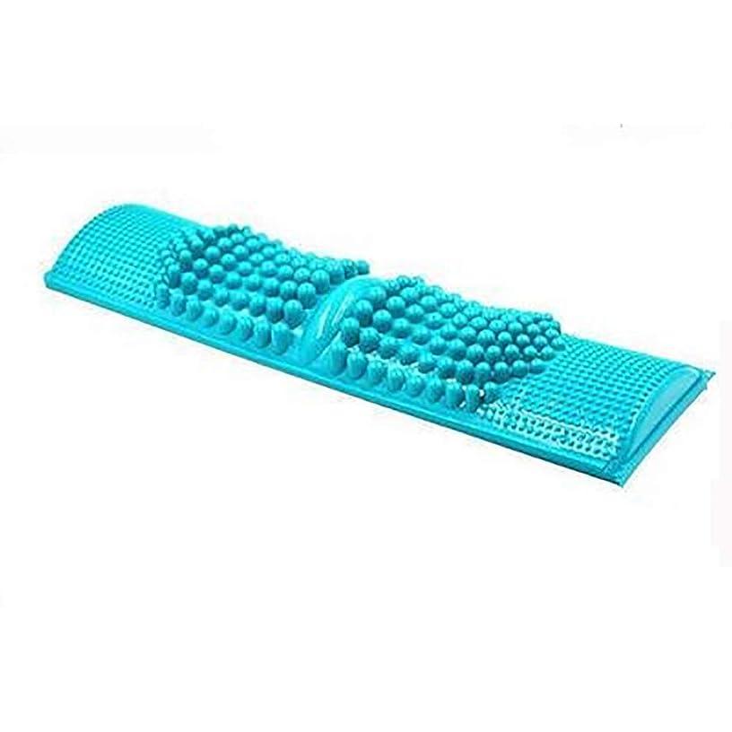 であること追い払う男らしさZXCP 簡単に健康維持 BIGサイズ 足つぼマッサージ 【足つぼ対応表付き】 足 踏み 足裏 刺激 血行促進 (ブルー)