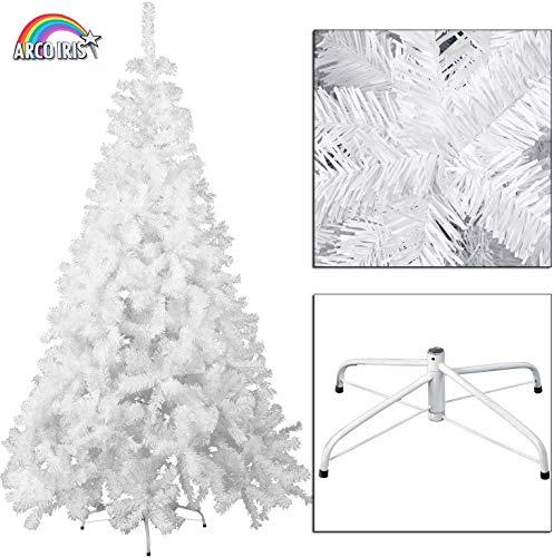 Arcoiris Árbol de Navidad Artificial Acebo, Natural Verde, Material PVC, Soporte deMetal, (120CM, Arbol Navidad Blanco)