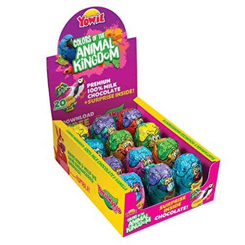 Yowie Surprise Inside Chocolate Eggs | Colors of the Animal Kingdom Series 6 | Box of 12 Eggs w/ Collectible Animal Toys | Fun for All Ages and Genders